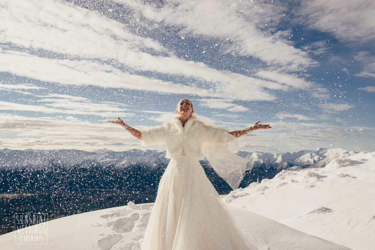 Winter elopement The Remarkables