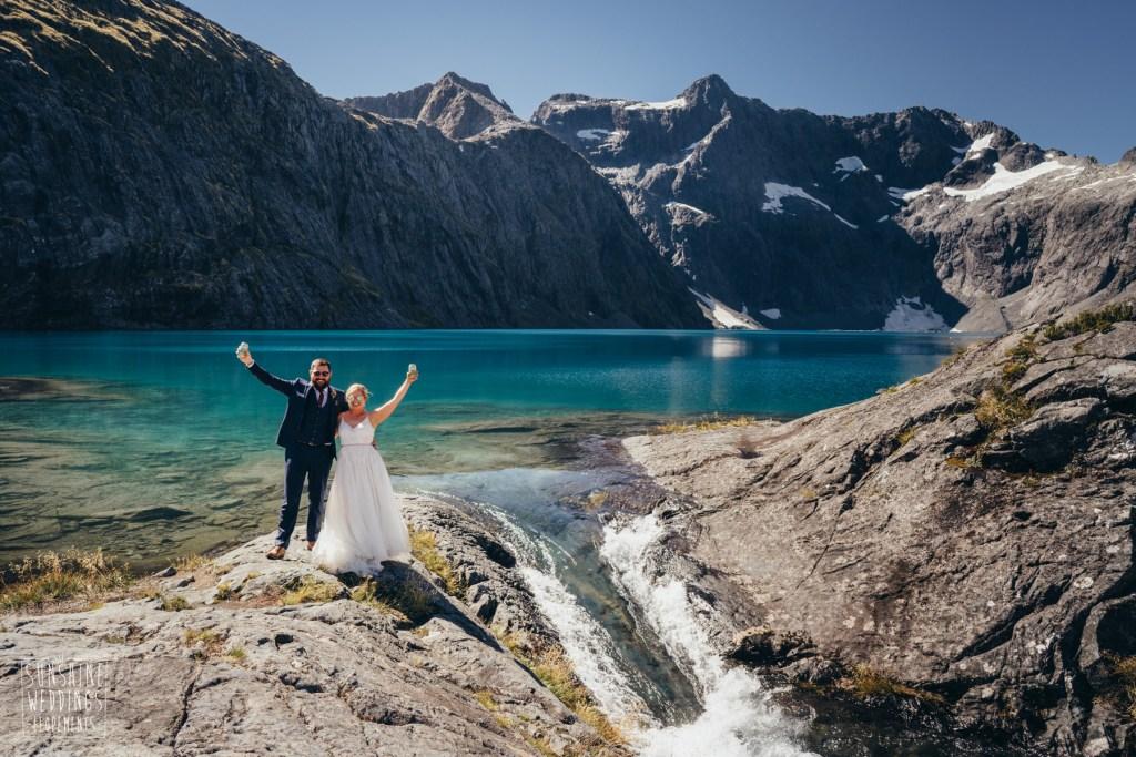 Lake Erskine wedding in Fiordland
