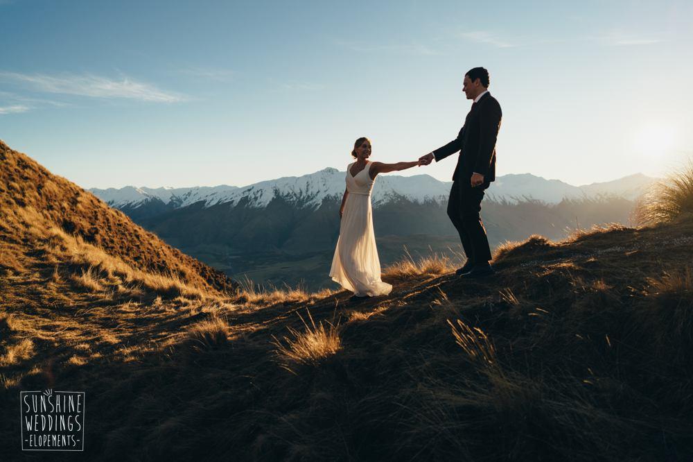Coromandel Peak sunset mountain wedding