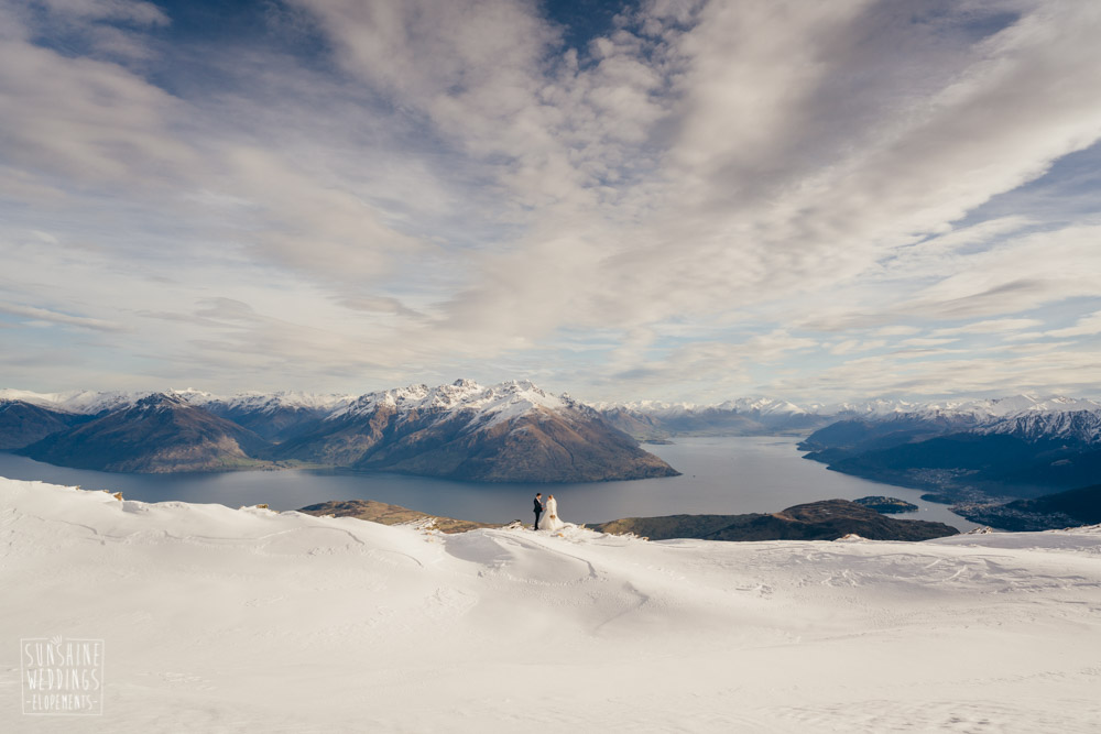 Elopement wedding Remarkables Spur Queenstown
