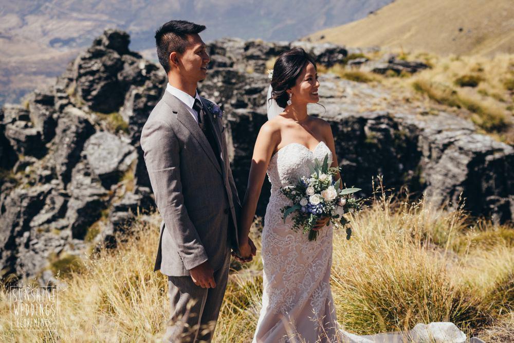 Cecil Peak wedding ceremony