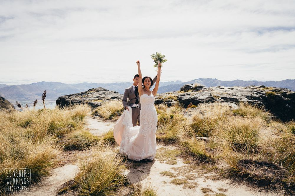 celebrating a mountain wedding in Queenstown