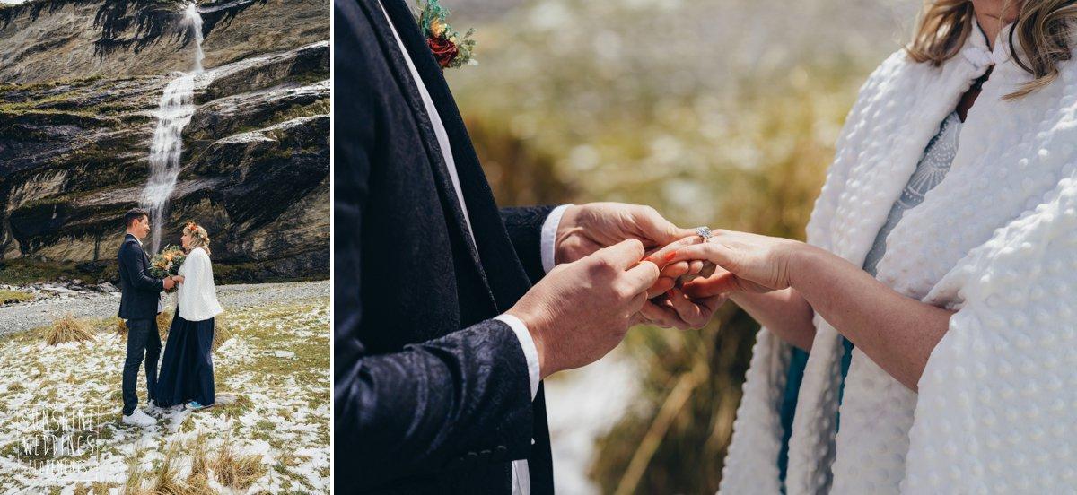 ring exchange elopement wedding