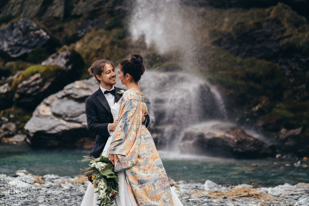 waterfall wedding nz