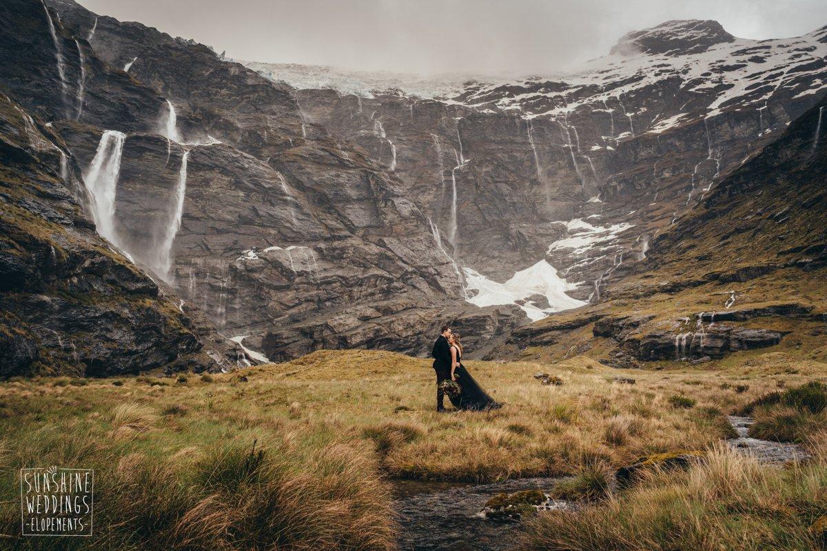waterfall wedding queenstown