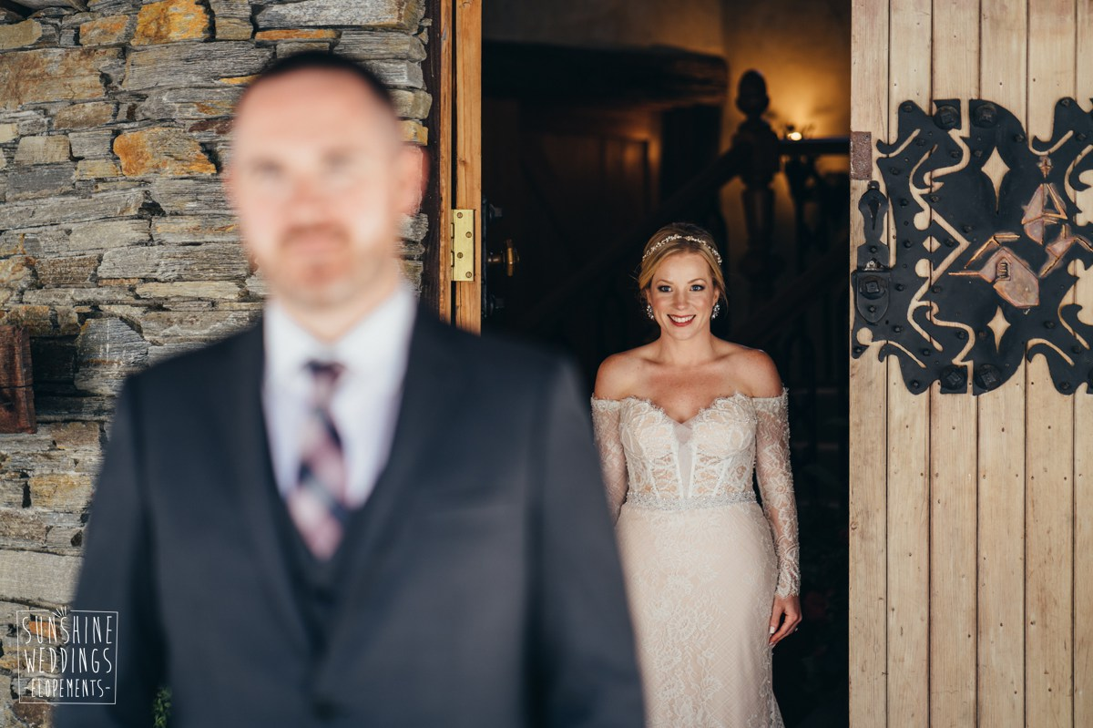first look bride and groom nz