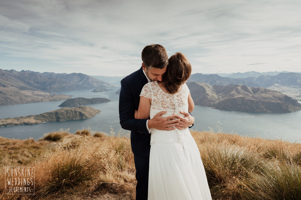 coromandel peak mountain wedding new zealand