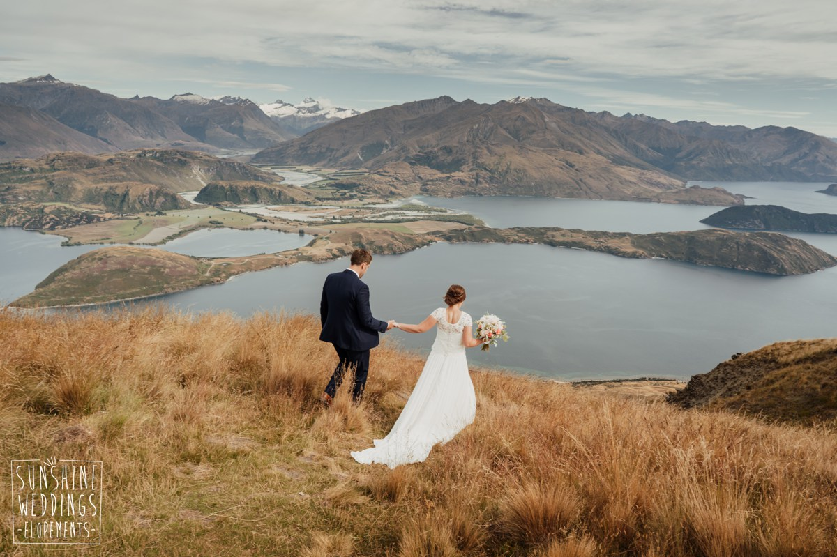 lake wanaka mountain elopement photography