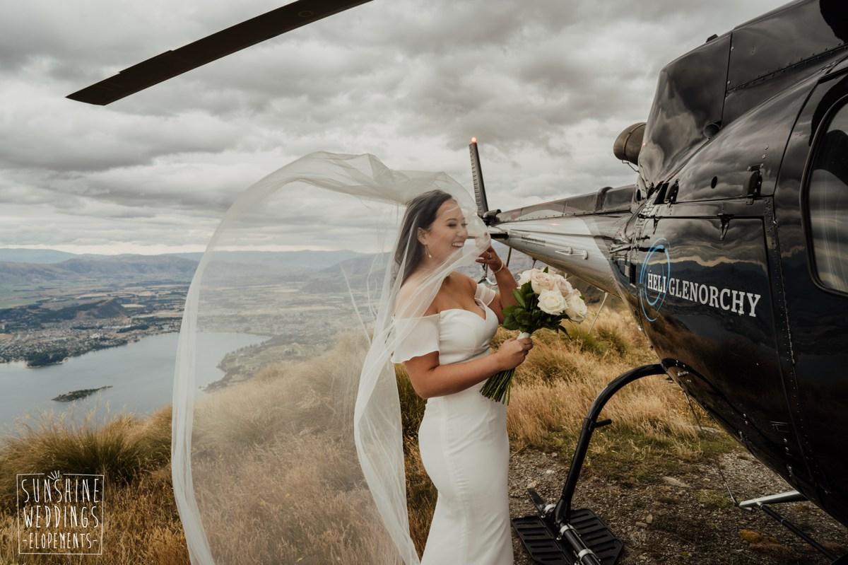 helicopter wedding ceremony nz