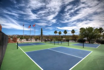 Pickleball at Queen Valley RV Resort