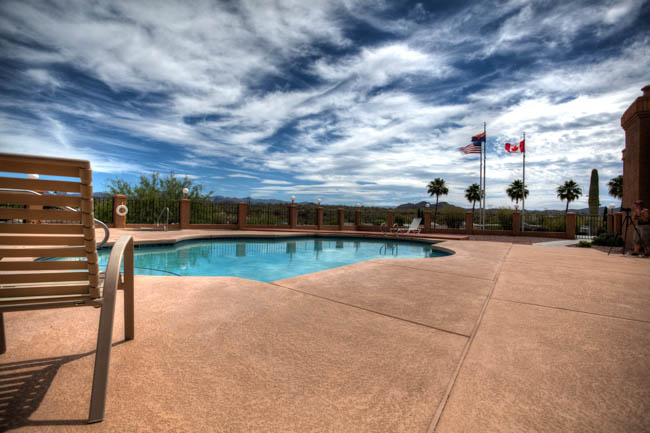 Pool Side - Queen Valley RV Resort