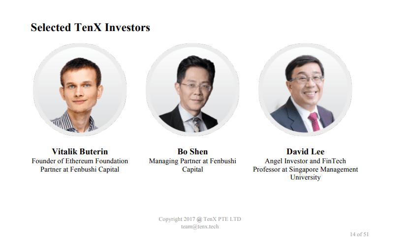 Tenx Investors Buterin