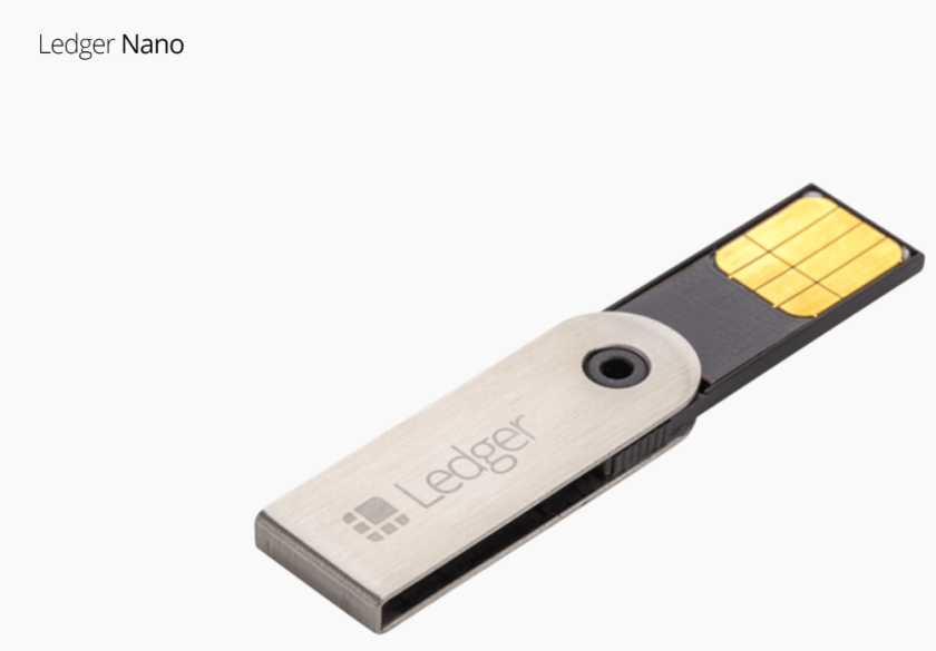 Ledger Nano S Cryptocurrency Wallet for bitcoin, ethereum