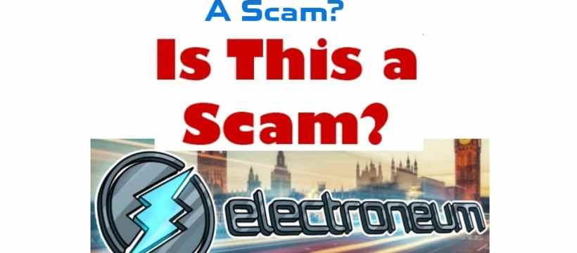 Electroneum is a Scam