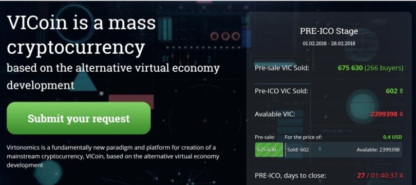 Virtonomics VIcoin VIC ICO