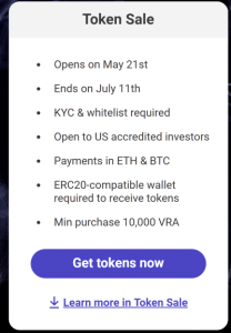 Verasity token sale