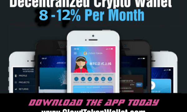 Cloud Token Mobile Cryptocurrency Wallet