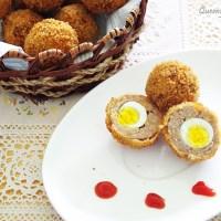 Trứng cút bọc giò sống chiên xù - Scotch Quail Eggs