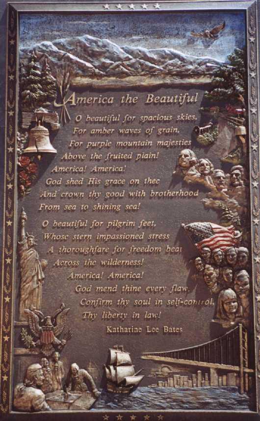 America the Beautiful Plaque