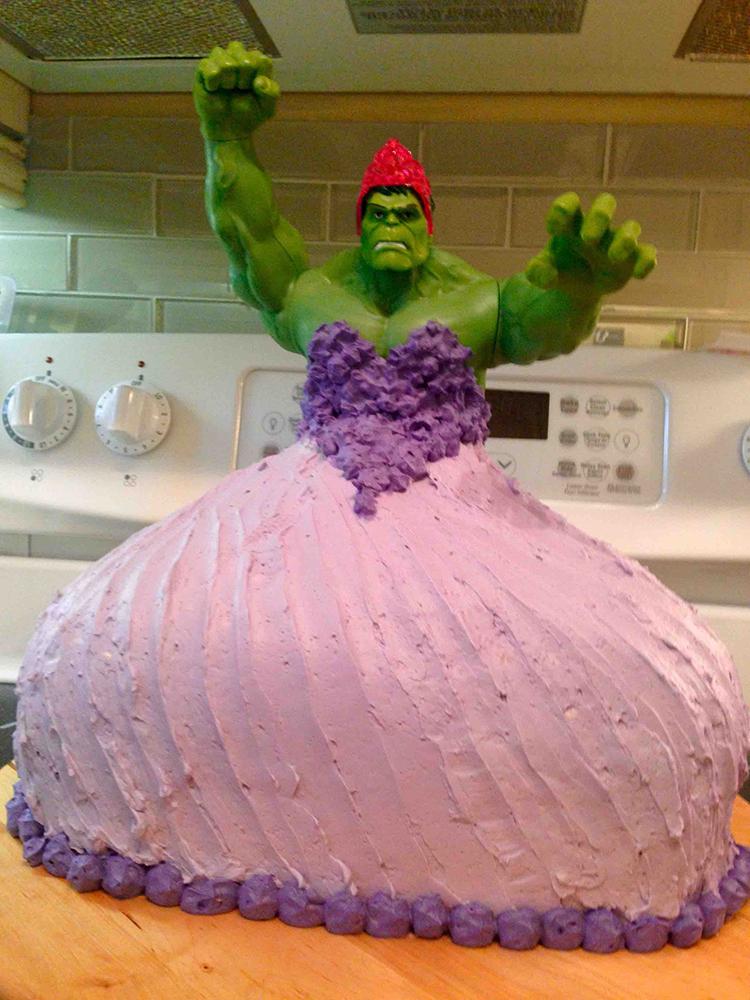 bolo de princesa hulk