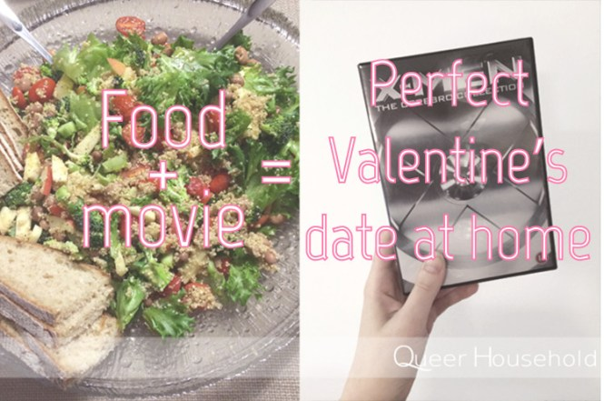 Food and Movie on Valentine's Day - Queer Household