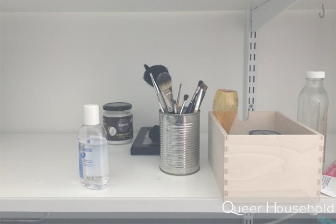 Reorganizing Small Bathroom Goods - Queer Household