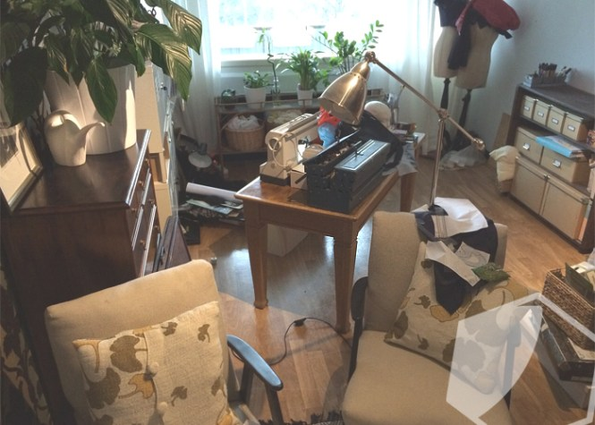 Our living room was a constant mess before konmari