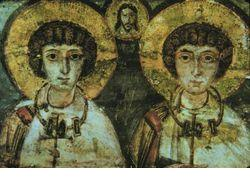 SS Sergius & Bacchus, Gay lovers, Roman soldires, martyrs and saints.