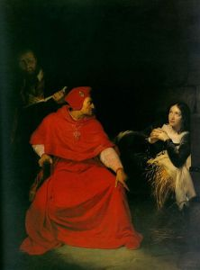 Joan of Arc Iinterrogation by the Bishop  of Winchester (Paul Delaroche, 1797 -1856)