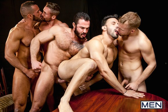 Muscular gay orgy