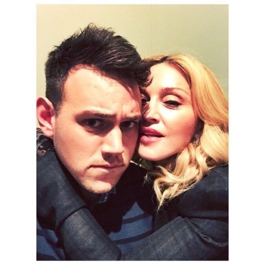 Sam and Madonna, from Sam's Instagram page.