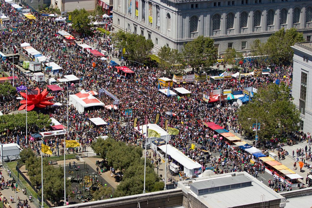 The 2012 San Francisco Pride Parade. Photo via Wikimedia Commons.