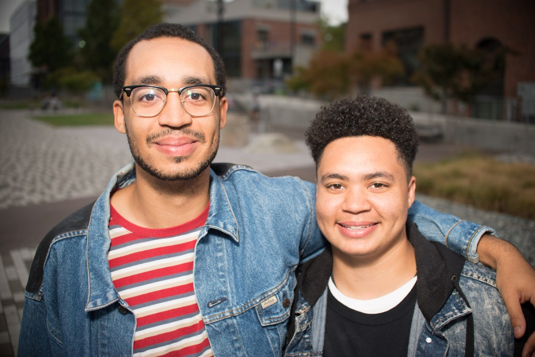 Theo (right) and Jalen (Theo's brother, left) in a photo courtesy of TRANSform Washington.