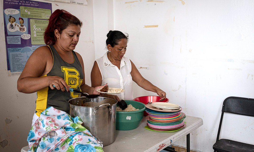 The women who participate in T'ja Xuj rotate cooking duties each week and share traditional dishes from their home countries.