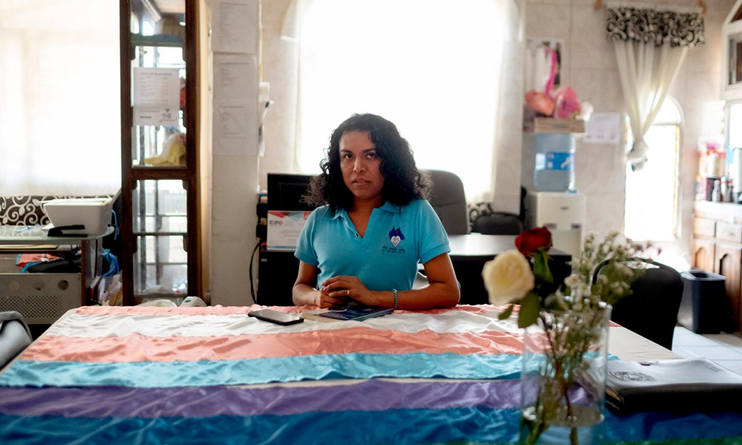 Essa Hernández, 28, is the educational coordinator at Una Mano Amiga, an NGO in Tapachula, Mexico, that provides support to the LGBTQ community, including hormones for those who are transitioning and rapid testing for HIV.