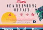 Activités sportives sur les plages à Marseille