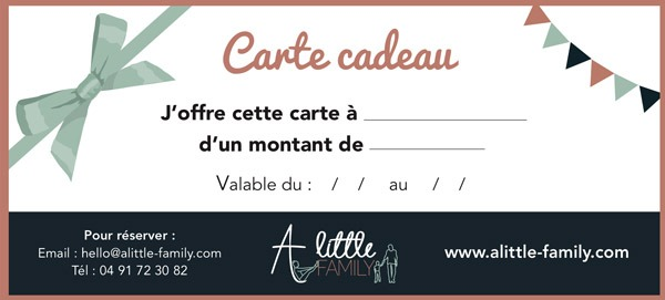 carte cadeau A Little Family