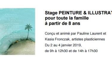 Stage Peinture & Illustration pour toute la famille,