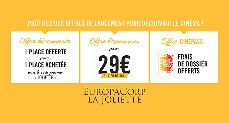 Promotion nouveau cinéma La Joliette