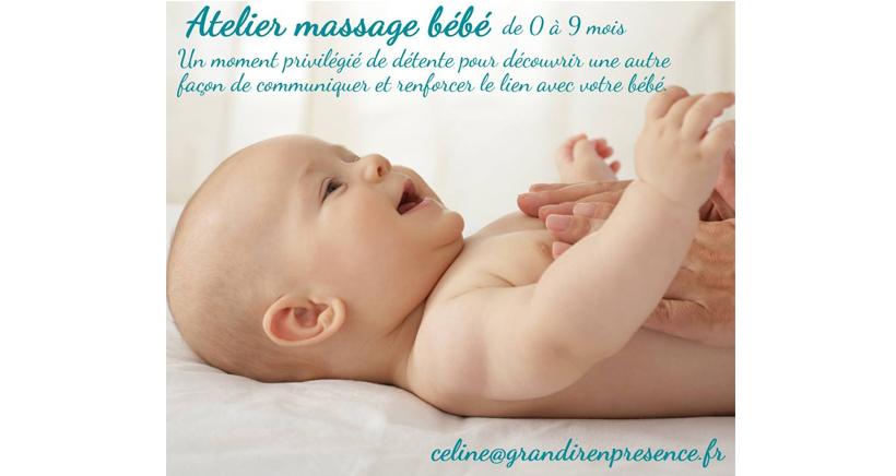 Atelier massage bébé marseille 0 à 9 mois