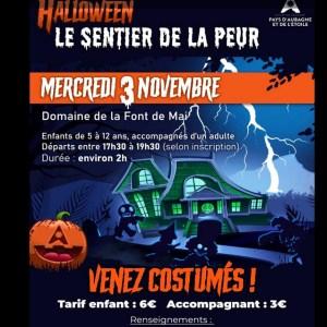 Sentier de la peur pour Halloween à Aubagne