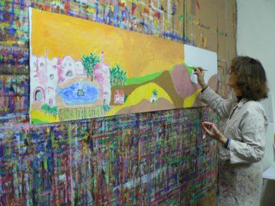 Atelier gouache, le jeu de peindre