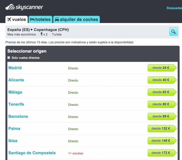 Skyscanner tutorial vuelos baratos