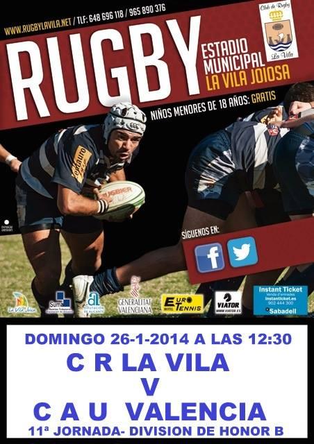 Cartel C.R La Vila vs CAU Valencia