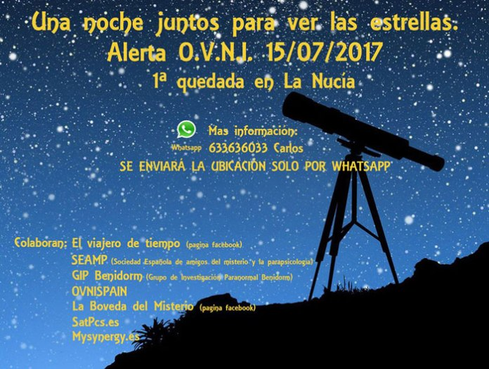 una noche juntos para ver las estrellas