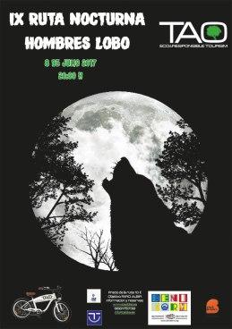 Ruta en bici nocturna Hombre lobo