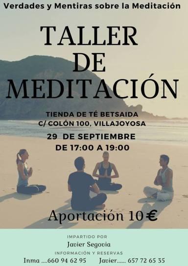Taller de meditación en Villajoyosa