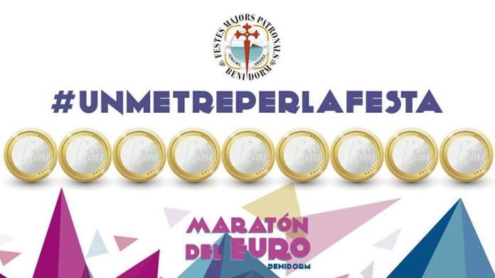 #unmetreperlafesta, lema del Marató de l'euro
