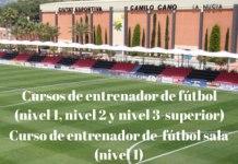 Cursos Intensivos de Entrenador de Fútbol y Fútbol Sala