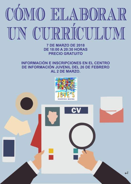 Taller gratuito: Cómo elaborar un Currículum - Que Hacer en Benidorm ...